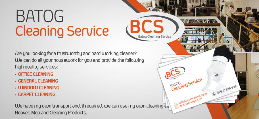 BCS Cleaning - A5 Flyers, business cards