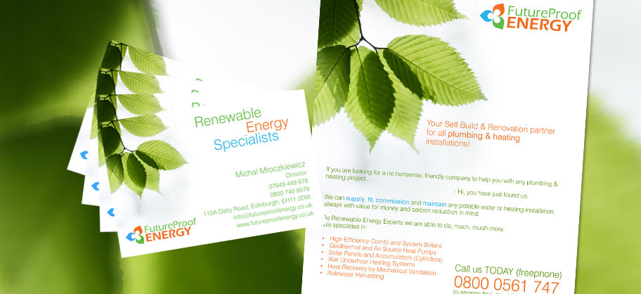 Future Proof Energy - A5 Flyers, Business cards