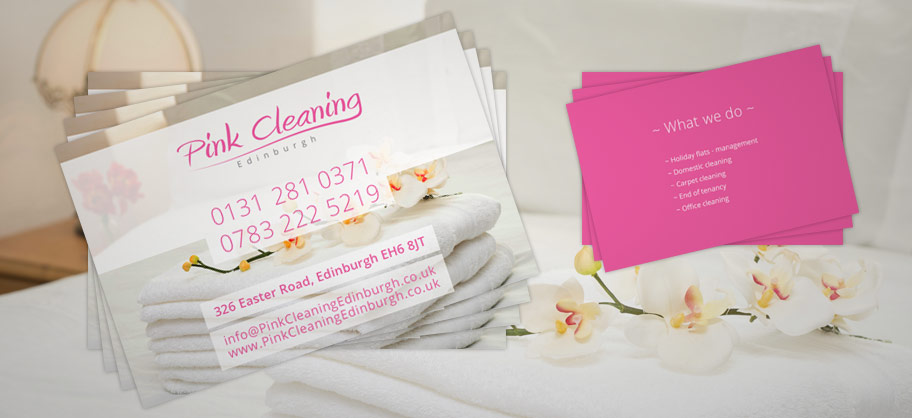 Web design in fife tommedia print design logo design hosting pink cleaning edinburgh a5 flyers business cards colourmoves