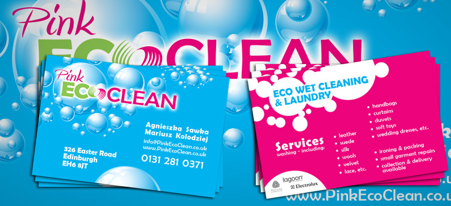 Pink Eco Clean - A5 Flyers, business cards