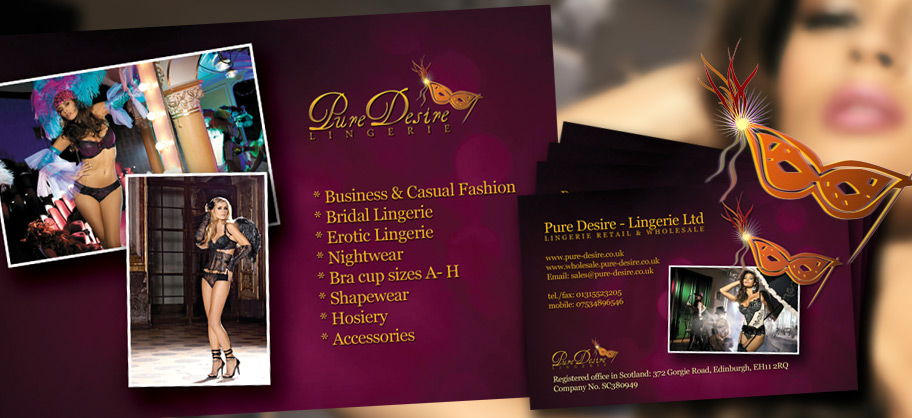 Pure Desire - Business Cards