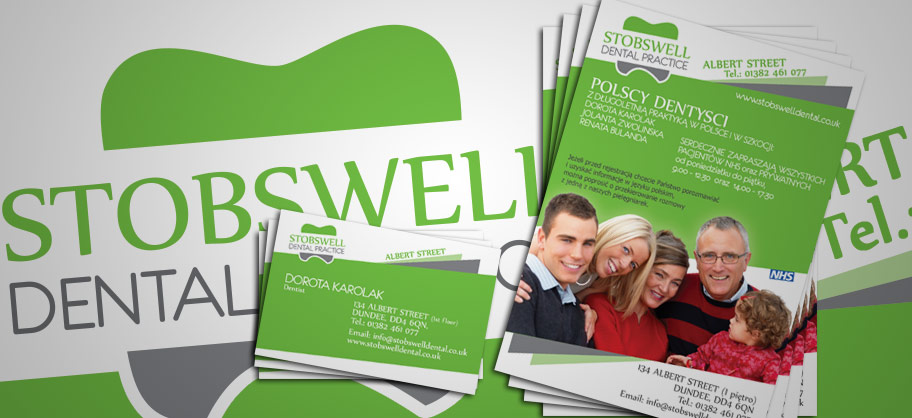 Stobswell - A5 Flyers, business cards & logo design